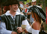 couple in pirate costumes